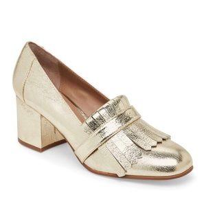 Steve Madden 'Kate' Gold Kiltie Loafer Pumps